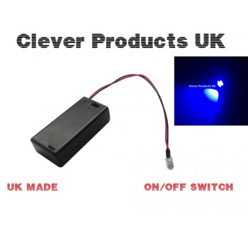 BLUE FLASHING LED DUMMY SECURITY CAR ALARM Motorbike BELL BOX Switch Battery Box
